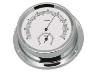 Talamex Boot Thermo-hygrometer Serie 125 Messing Verchroomd